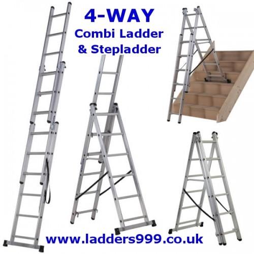 4-WAY Combi Ladder & Stepladder