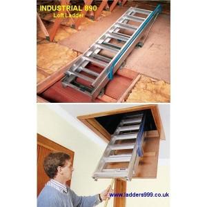 Industrial 890 Alloy Loft Ladder