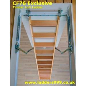 ClickFix76 EXCLUSIVE Timber Folding Loft Ladder