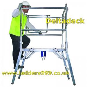 DELTADECK Folding Alloy Podium Platform