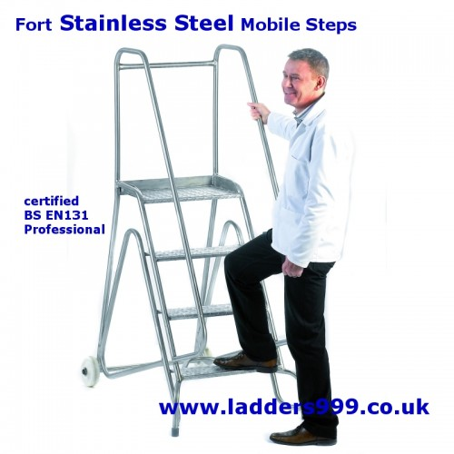 Fort STAINLESS Steel Mobile Safety Steps