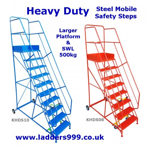 HEAVY DUTY Steel Mobile Safety Steps