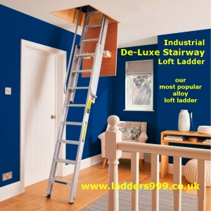 Industrial DE-LUXE STAIRWAY Loft Ladder