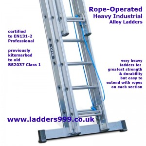 Rope-Operated Heavy Industrial Ladders NHT340