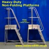 Heavy Duty NON-FOLDING Alloy Platforms