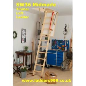 SW36 MIDMADE Timber Folding Loft Ladder