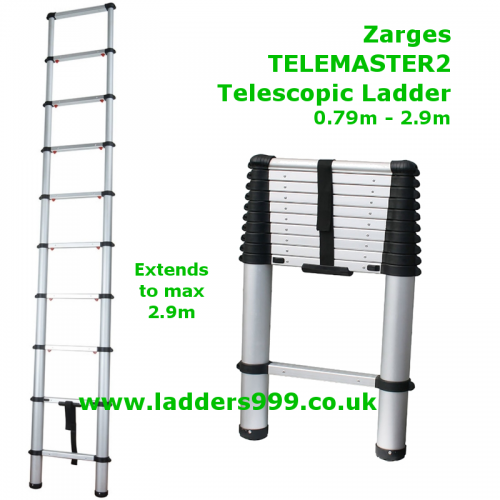Zarges TELEMASTER2 Telescopic Ladder 2.9m - EN131 Professional