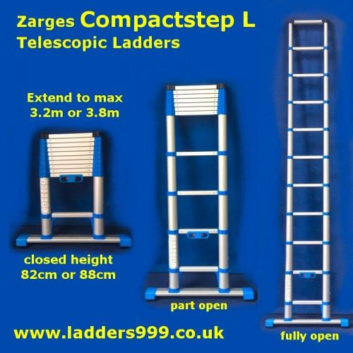 Zarges COMPACTSTEP L Telescopic Ladders - EN131 Professional