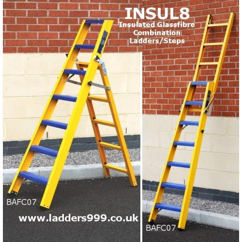 """Insul8"" Glassfibre (GRP) Combination Ladder & Stepladder"