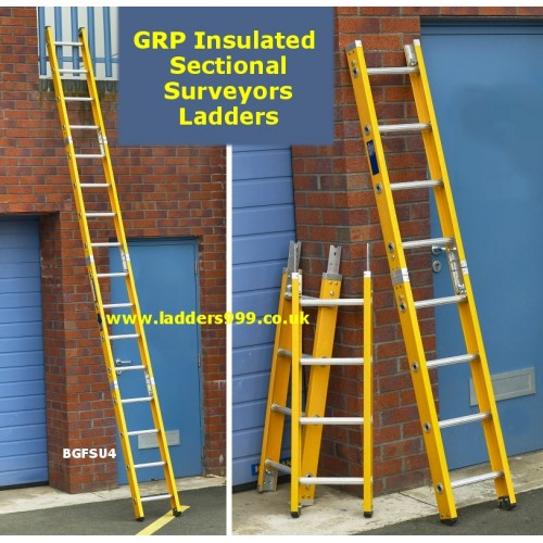 Glassfibre Insulated Sectional SURVEYORS Ladders