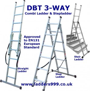 DBT 3-WAY Trade & Industrial Ladder & Stepladder