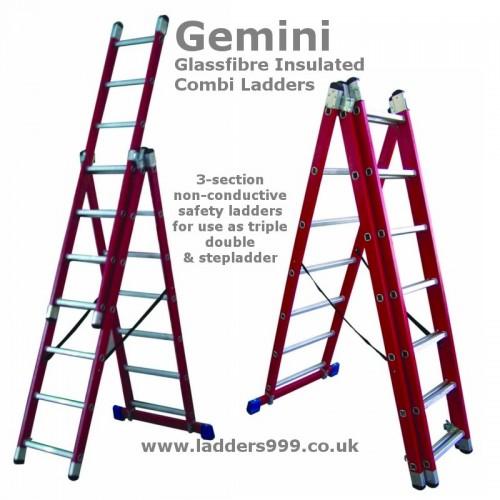 Gemini Glassfibre Safety GRP Combi Ladders