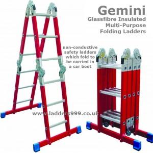 Gemini Glassfibre Insulated FOLDING Ladder