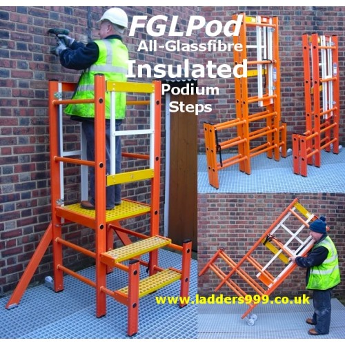 FGLPod All-Glassfibre Insulated Podium Steps