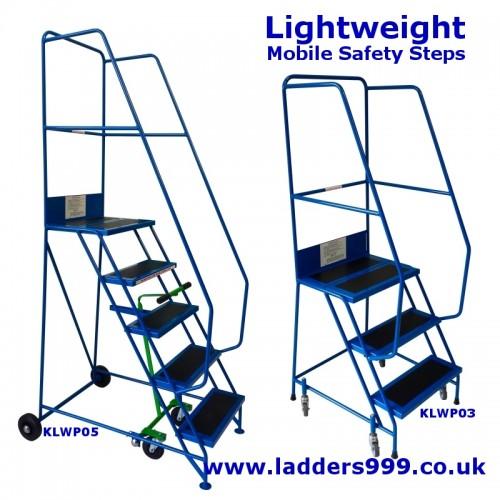 LIGHTWEIGHT Steel Mobile Safety Steps