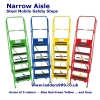 NARROW AISLE Steel Mobile Safety Steps