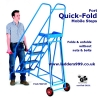 Fort QUICK-FOLD Steel Mobile Safety Steps