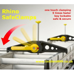 Rhino SAFECLAMPS - the fastest locking ladder clamps