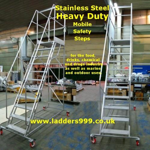 STAINLESS Steel Heavy Duty Steps & Stairs - PK range