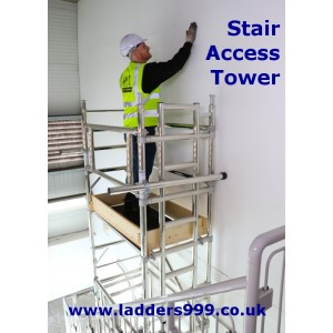 STAIR ACCESS TOWER Industrial Alloy Stairwell Scaffold