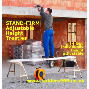 STAND-FIRM Adjustable Height Trestles