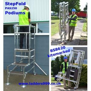 StepFold PAS250 Podium Steps - BS8620 kitemarked