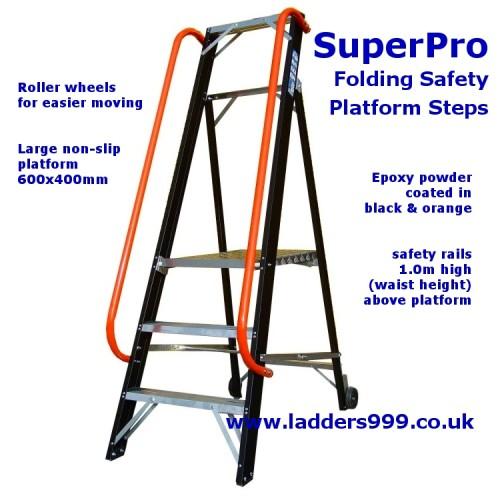 SuperPro Folding Safety Platform Steps