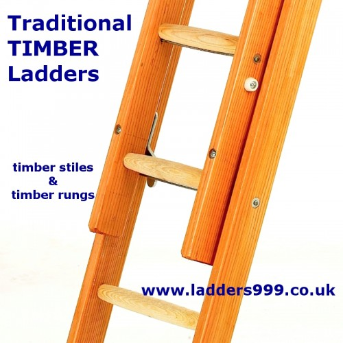 Traditional TIMBER Ladders