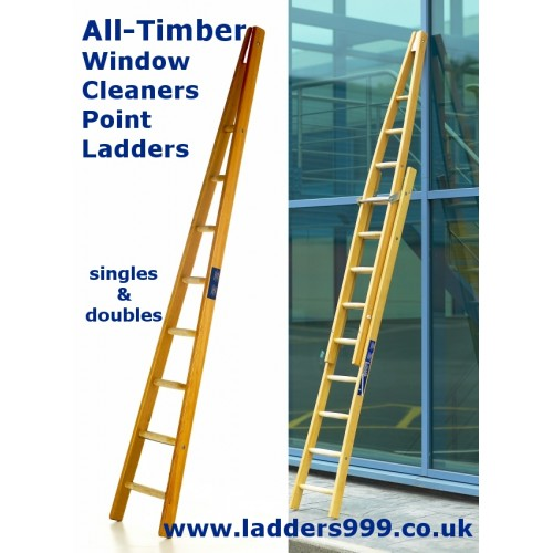 """ALL-TIMBER Window Cleaners """"A"""" Ladders"""