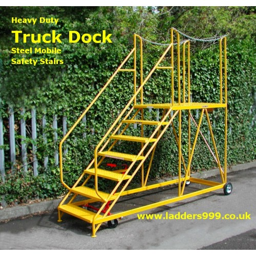 TRUCK DOCK Steel Mobile Safety Stairs