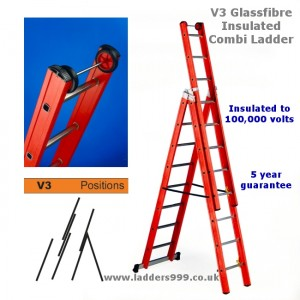 V3 Glassfibre Safety Combi Ladders