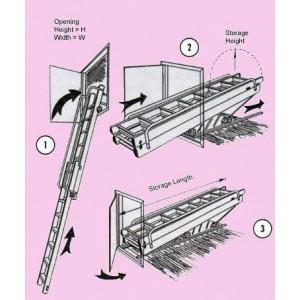 VCL Sliding Carriage Loft Ladder