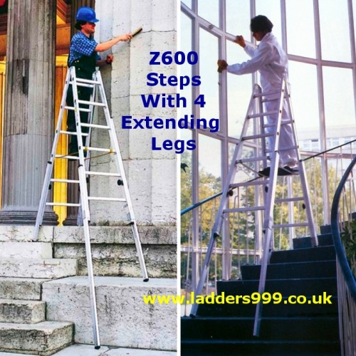 Z600 Extending Stiles Stepladders