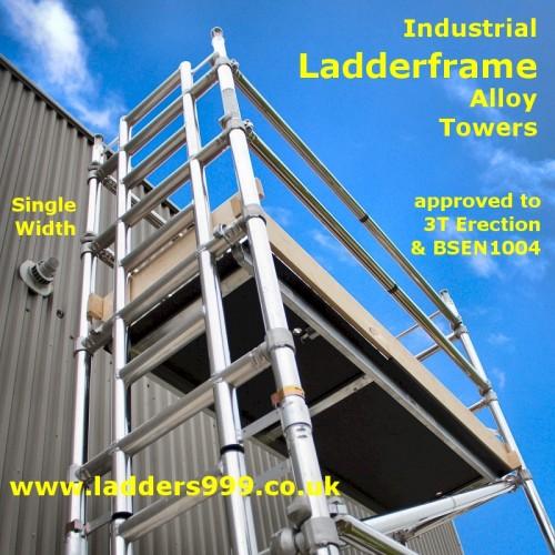 SINGLE Width Ladderframe INDUSTRIAL Alloy Towers 2.0m long
